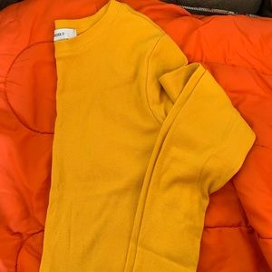 Mustard yellow essential top
